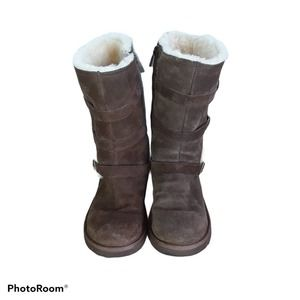 UGG Maddi genuine shearling/suede boots Youth 3